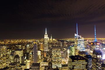 New York Night Skyline, USA