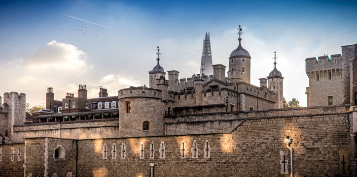 East facade of the Tower of London