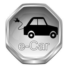 e-Car Button - 3D illustration