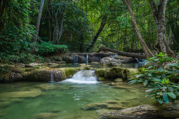 Erawan waterfall in natioanl park