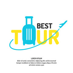 Vector illustration for advertising the best of the tour