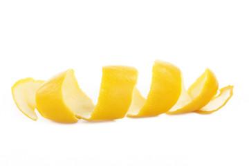 rind of lemon isolated