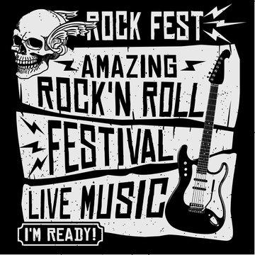 Rock music concert festival