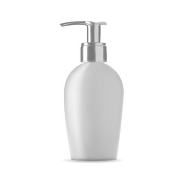 Isolated soap bottle on white background. 3D illustration.