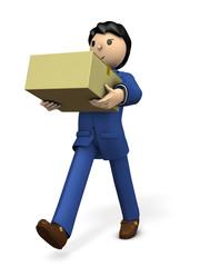 手荷物を運ぶビジネスパーソン