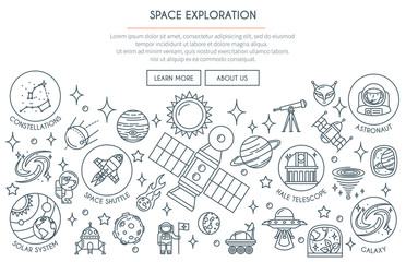 Space Exploration Banner