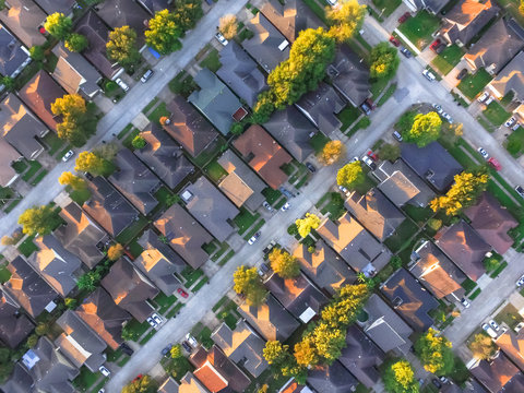 Residential house aerial