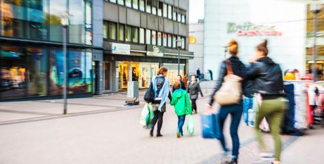 Einzelhandel Einkaufstraße im zoom in Essen