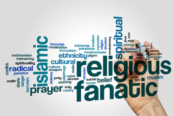 Religious fanatic word cloud