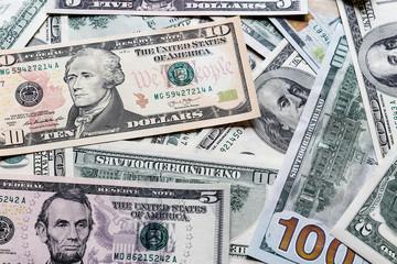 Background with money american dollar bills.