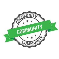 Community stamp illustration