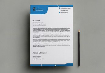 Blue Business Letterhead Template 2