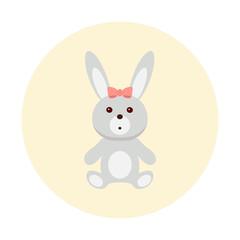 Rabbit toy vector icon