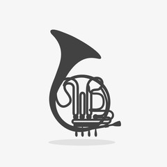 Logo with French Horn