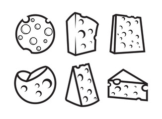 Cheese Illustrations in Different Forms