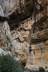 Fototapete - Caminito del Rey, footpath along the walls