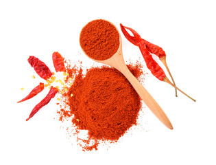Dried peppers and cayenne pepper