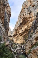 Fototapete - Caminito del Rey, gorge and Guadalhorce river