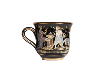 Greek cup with antique ornament