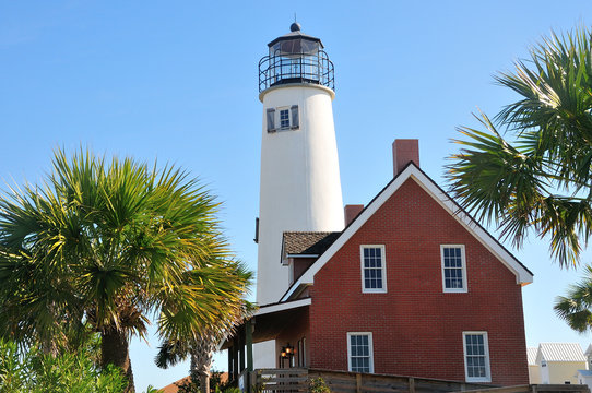Lighthouse at St. George Island, Florida, USA