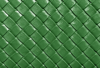 Green color leather pattern.