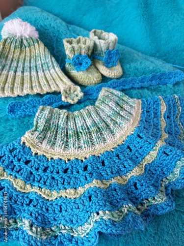 Handicrafts Clothes Made On Crochet Stock Photo And Royalty Free