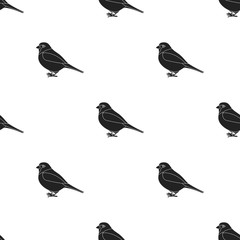 Sparrow icon in black style isolated on white background. Bird pattern stock vector illustration.