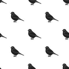 Bullfinch icon in black style isolated on white background. Bird pattern stock vector illustration.