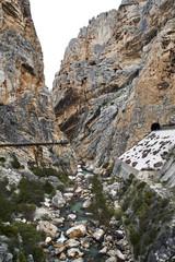 Fototapete - Guadalhorce river and Caminito del Rey, Desfiladero de los Gaitanes