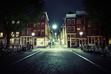 Amsterdam at night, Netherlands Fotomurales