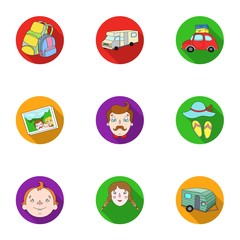 Family, family traditions, recreation. Family life.Family holiday icon in set collection on flat style vector symbol stock illustration.