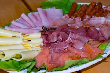 Wurst und Käse Platte