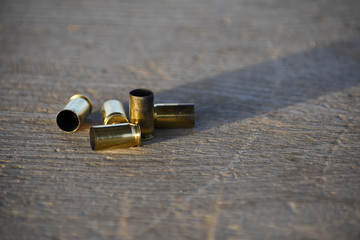 Spent bullet casings