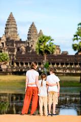 Family at Angkor Wat temple