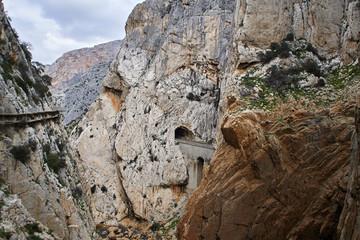 Wall Mural - Caminito del Rey and railway, Valle del Hoyo