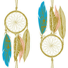 Seamless dream catchers pattern