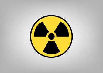 Radiation sign, symbol of danger. Vector image