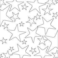 monochrome background with contour pattern of starfish vector illustration