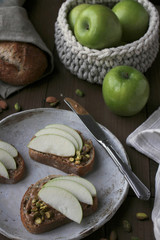 Apple Nut Butter Toast