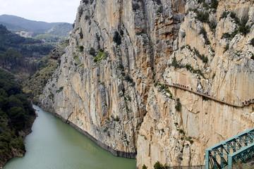 Fototapete - Garganta del Chorro and finish of the Caminito del Rey