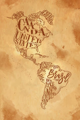 Map America vintage craft