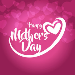 happy mothers day greeting card vector illustration