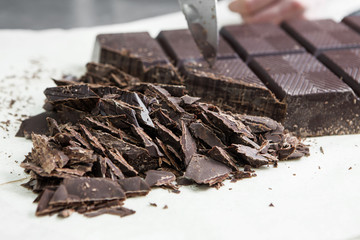 manufacturing of chocolate candies