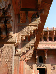 Details of Fort Agra, Northern India