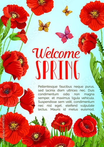 Vector poster of flowers and welcome spring quotes stock image and vector poster of flowers and welcome spring quotes mightylinksfo