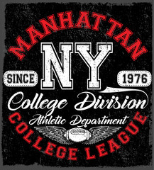 New York Sport wear typography emblem, american football,vintage, college, sports graphics for t-shirt