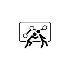 Teamwork Icon. Flat Design.