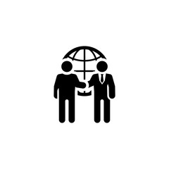 Business Meeting Icon. Flat Design.