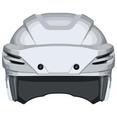 White hockey helmet