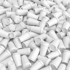 Paper coffee cups background